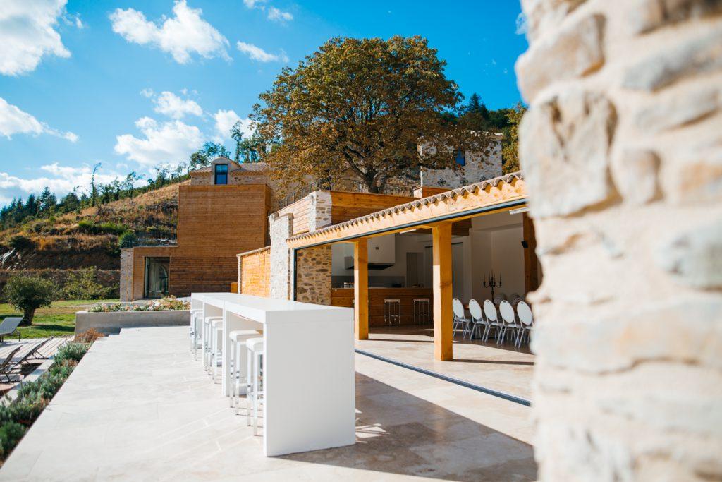 Domaine de Merlac pool house piscine France